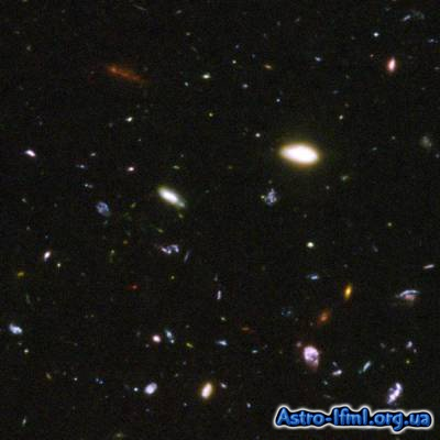 Collection of Galaxies From the Hubble Ultra Deep Field Image