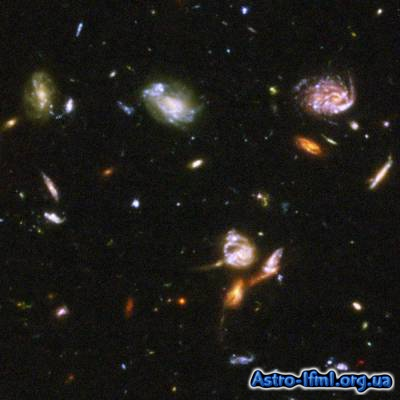 Galaxies on a Collision Course in the Hubble Ultra Deep Field Image