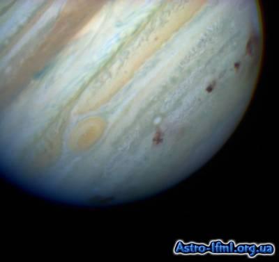 Comet P-Shoemaker-Levy 9 Bombards Jupiter