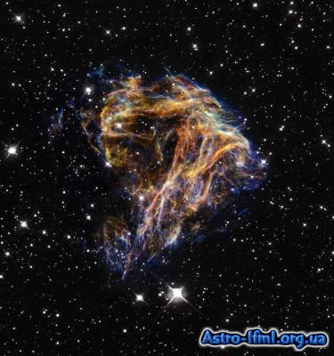 Celestial Fireworks - Sheets of Debris From a Stellar Explosion