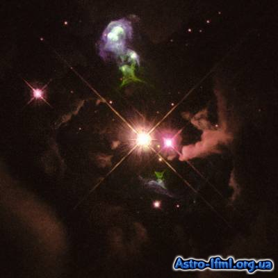 Herbig Haro 32 - Jets of Material Ejected From a Young Star