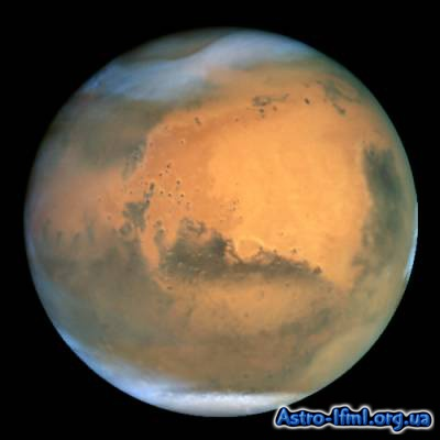 Mars Dust Storm Brews in Hellas Basin and Northern Polar Cap